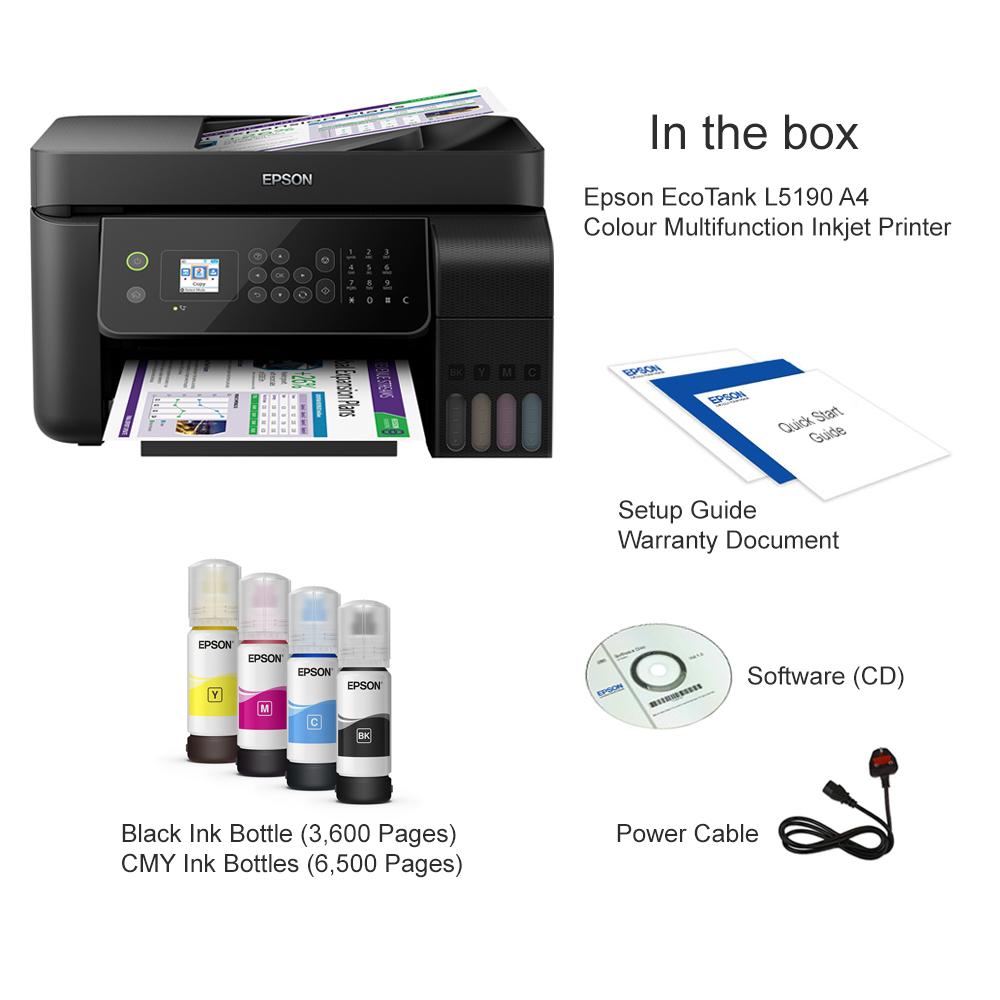Epson EcoTank L5190 A4 Colour Multifunction Inkjet Printer